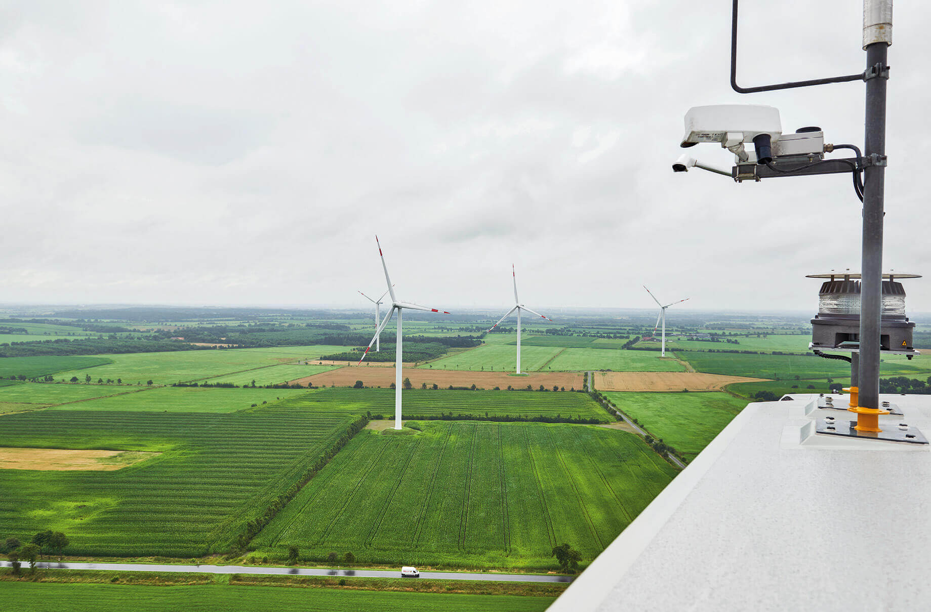 The wind turbines document all key parameters.