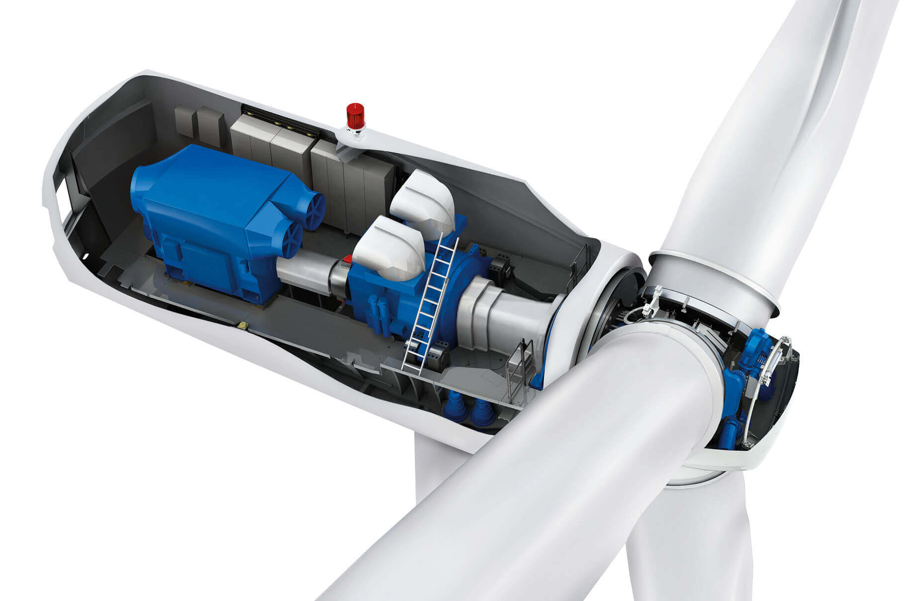 The Generator, gearbox and pitch system are solid components of wind farms.