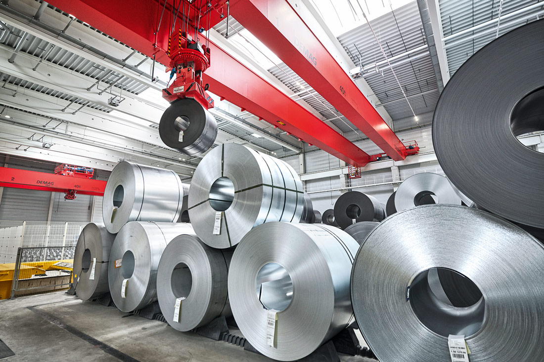 Some 400,000 metric tons of steel can be processed in the Stahlo plant each day.